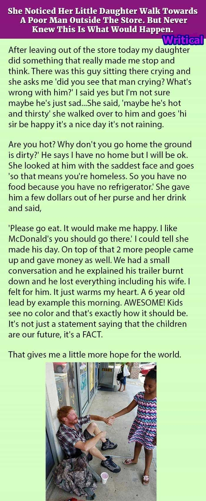 Little girl stuns her mother when she did this