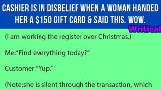 Cashier amazed by a woman, but what follows is Gold