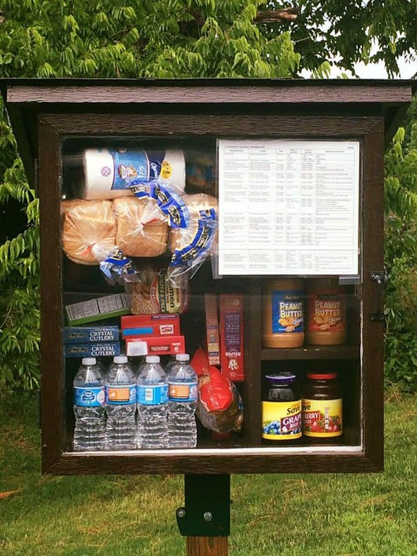 Little Free Pantry is a place where one can leave items for needy