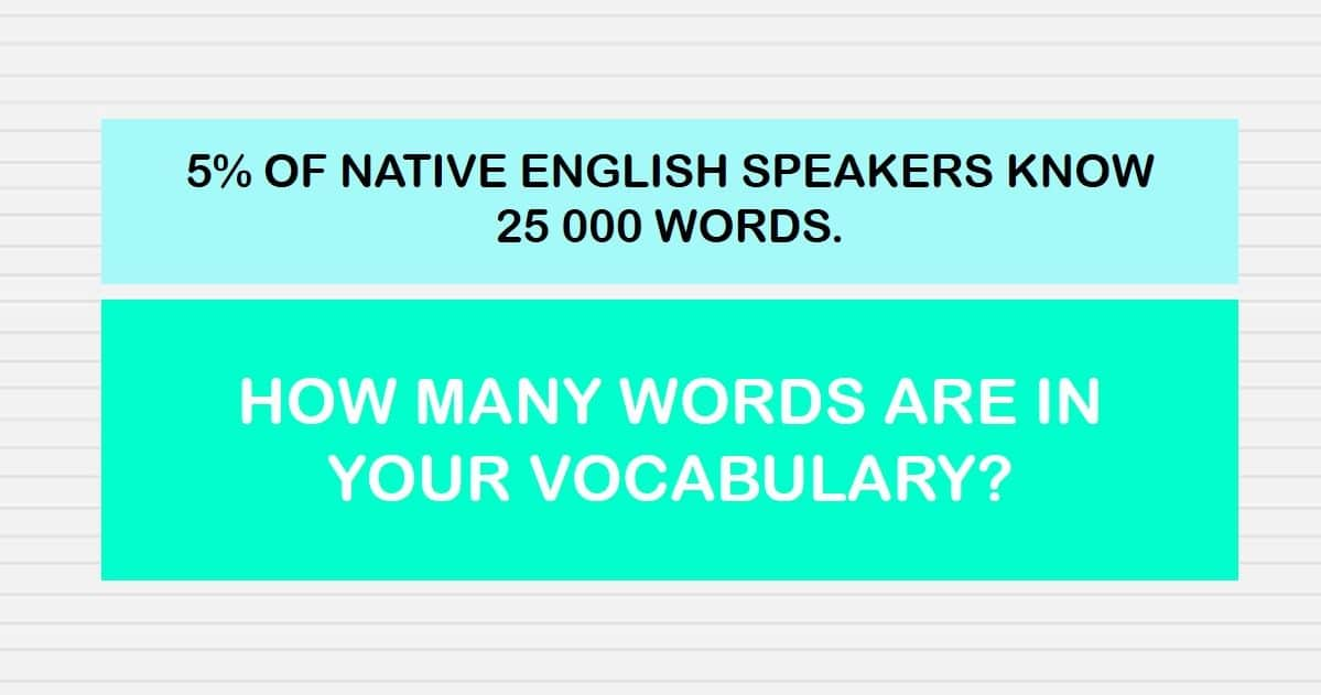 only 5 of native english speakers have this size vocabulary. Black Bedroom Furniture Sets. Home Design Ideas