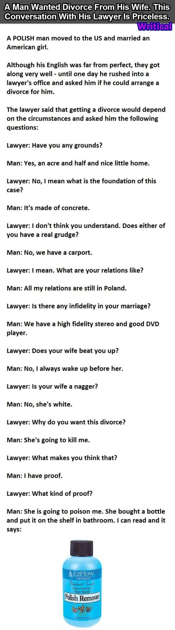 56796c74a0f6 This Polish man wanted divorce but his English was poor. This is Epic. -