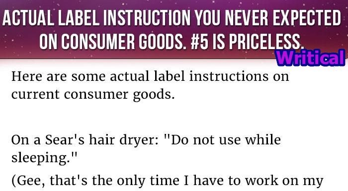 Mind Blowing Instruction Labels Present On Customer Goods