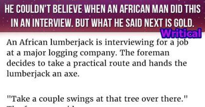 African lumberjack