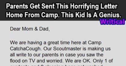 horrifying letter