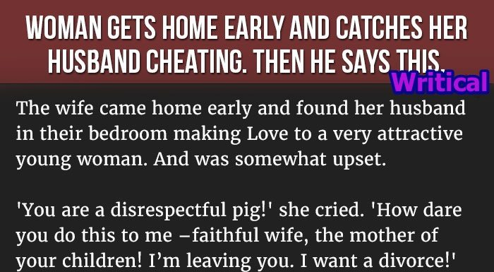 why would a husband cheat on his wife