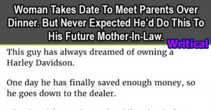Woman takes date to meet parents
