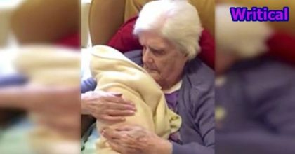 Grandma Receives Doll Therapy
