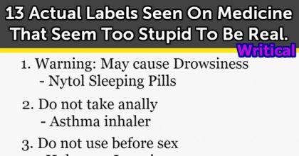 Funny medicine labels