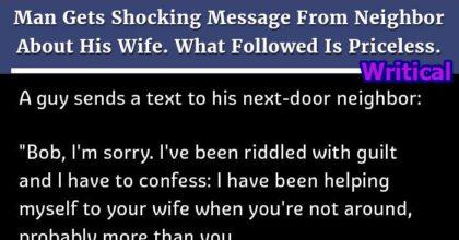 Shocking message from neighbor
