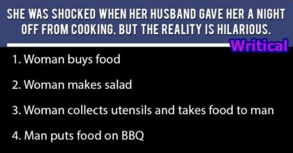 husband cooked