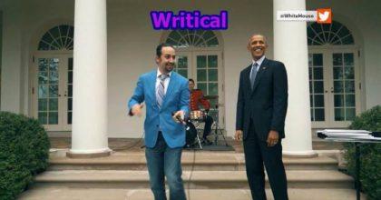Lin Manuel Miranda and President Obama