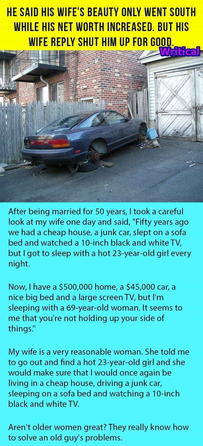 Increased Net Worth and Aging Wife. -