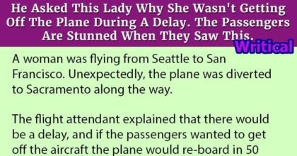 Lady Who Didn't Get Off Delayed Plane