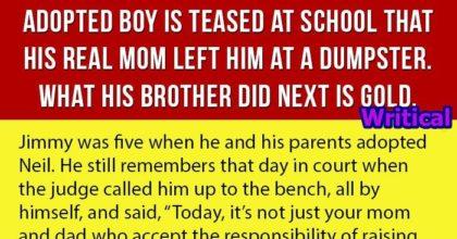 Heartbroken adopted boy