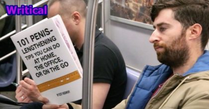 comedian Scott Rogowsky took fake book covers on the subway