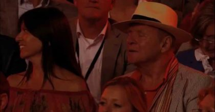 Sir Anthony Hopkins listens to his own waltz. Stunning