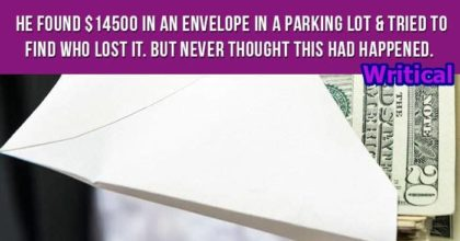 Man find white envelope containing money, what he did with it is priceless
