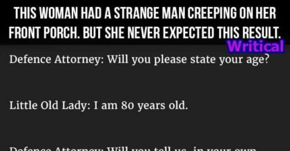 Strange man pranks an old lady, but he didn't expect this