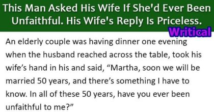 Wife discloses about her infidelity, but the husband never expected this