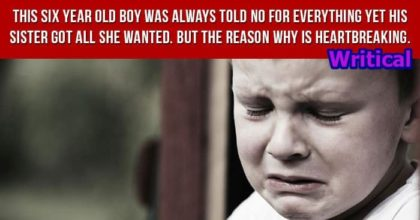 Six year old boy was always told no for everything, but the reasons is heartbreaking