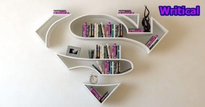 Superhero bookshelves by Burak Dogan