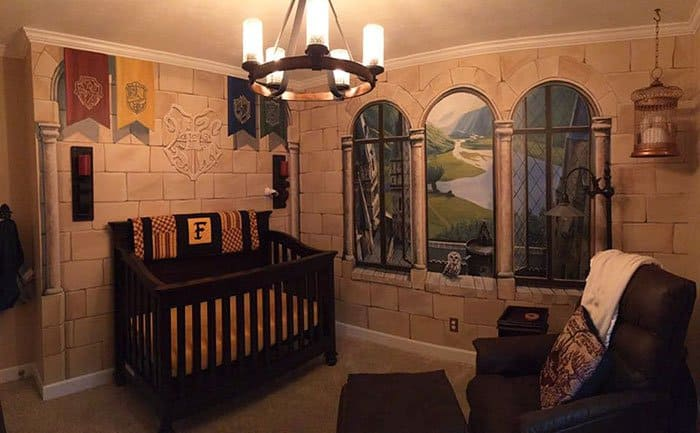 Harry Potter themed nursery by this father is awesome