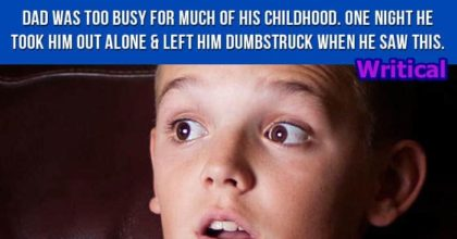 Busy Dad during Childhood Did Something Unexpected