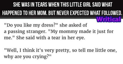Woman Cried When Little Girl Explained about Her Mom