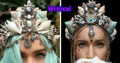 Beautiful real seashells' mermaid crowns