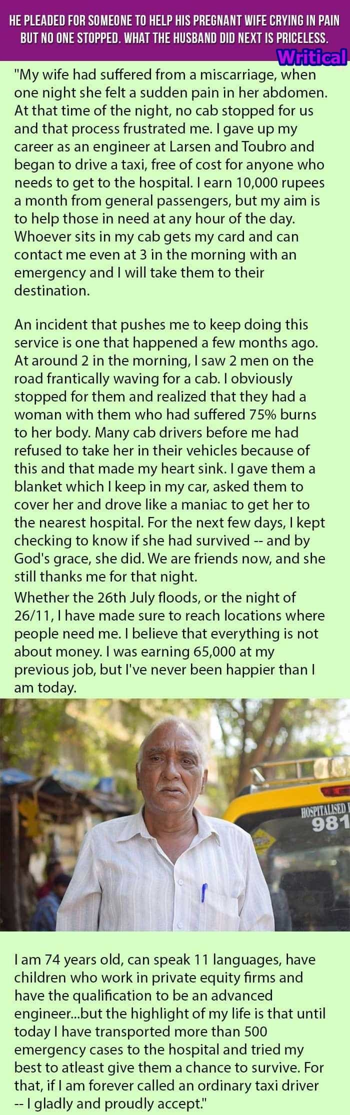 Heart touching act by this husband post the demise of his pregnant wife