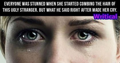 Ugly stranger makes a woman cry, but what follows next is Gold