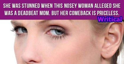 Nosey Woman thought a young woman to be a deadbeat mom, but then this happened