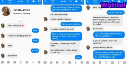Adele Song Lyrics used by Guy to troll Facebook Scammer