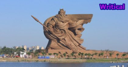 Legendary Warrior Guan Yu immortalized by an epic statue