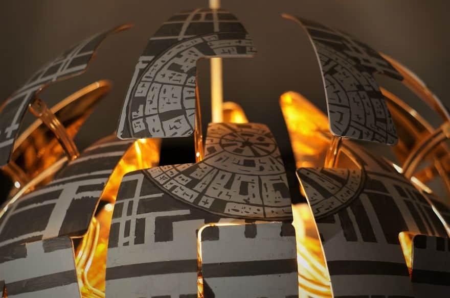 star wars death star lamp ikea ps 2014 modification todesstern lampe - Star Wars Todesstern Lampe