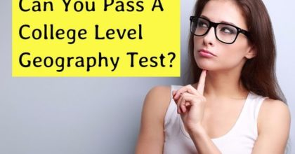 College Level Geography Test