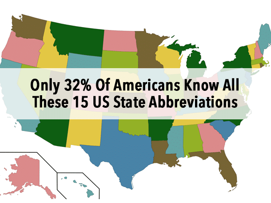 Only 32 Of Americans Know All These 15 US State Abbreviations